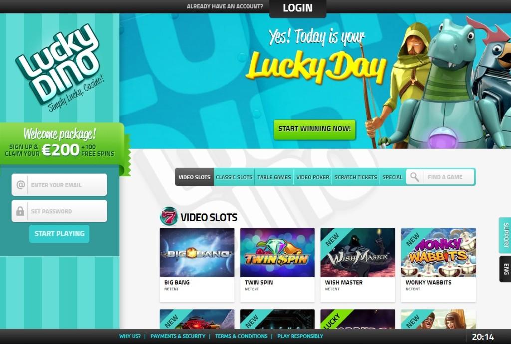 LuckyDino 7 ilmaiskierrosta ilman talletusta! - Vihjepaikka.com