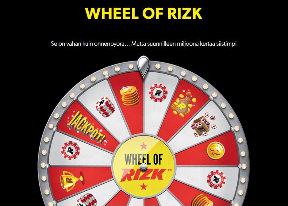 rizk wheel of rizk nettikasino