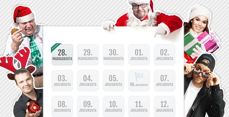 kasinoiden joulukalenterit 2017