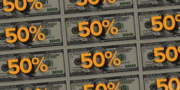50% talletusbonus