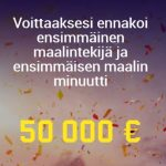 Unibet 50 000 euroa