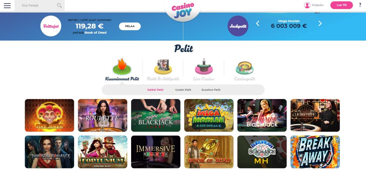 Casino Joy pelit