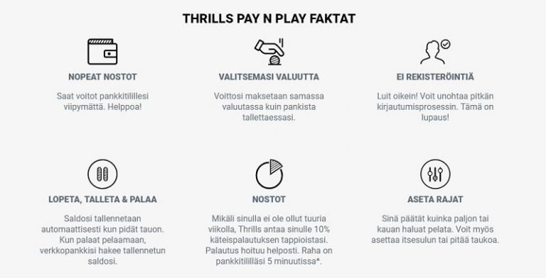 Thrills Trustly Pay n Play