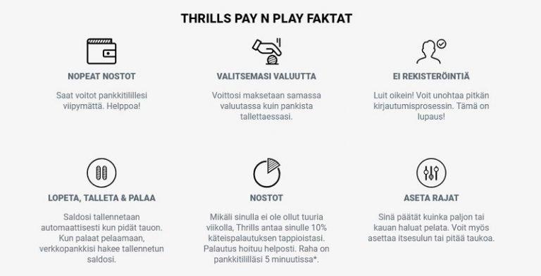 Thrills Trustly Pay n Play