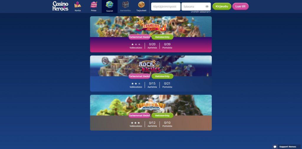 Casino Heroes saaret