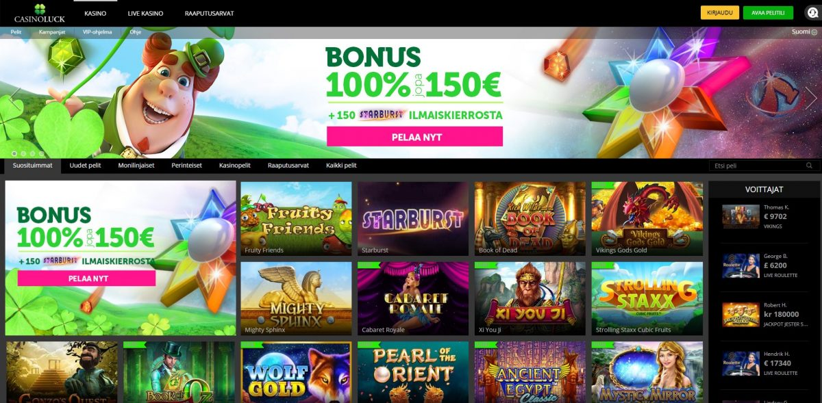 Casinoluck-nettikasino