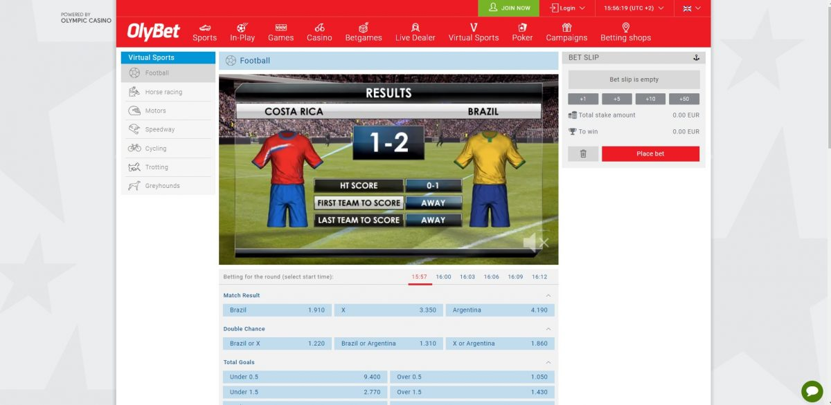 Olybet Virtual Sports