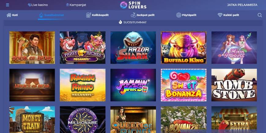 Spin Lovers Casino kolikkopelit