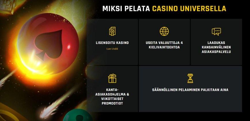 Casino Universe uusi nettikasino