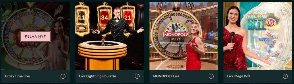 Live Casino livekasinopelit
