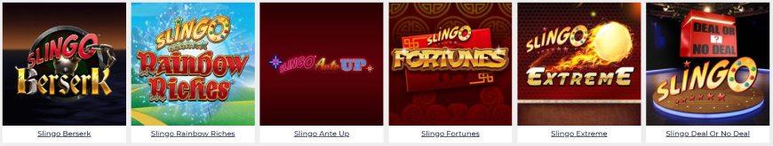 Slingo Casino kolikkopelit