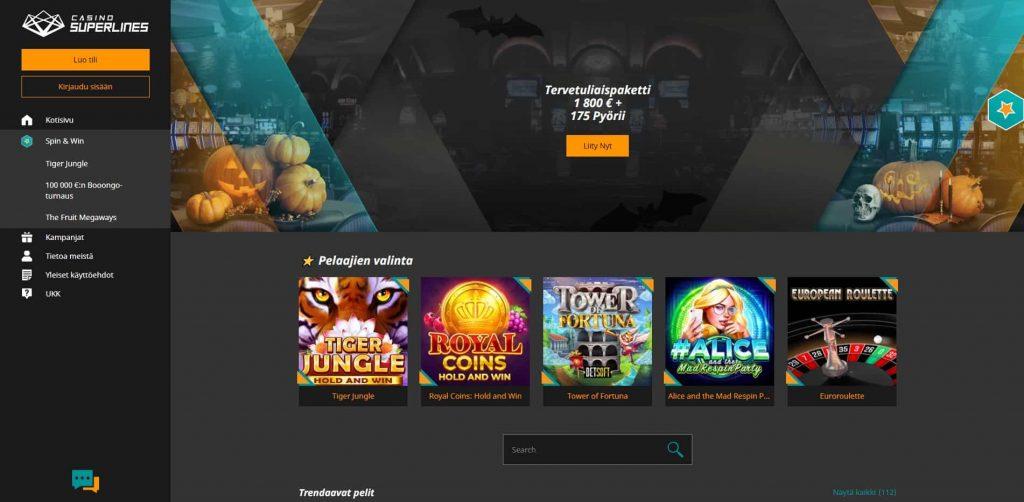 Casino Superlines etusivu