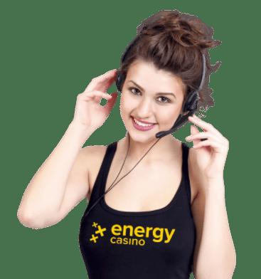 Energy Casino nainen asiakaspalvelussa