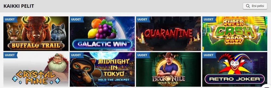 PlayAmo kasino pelivalikoima