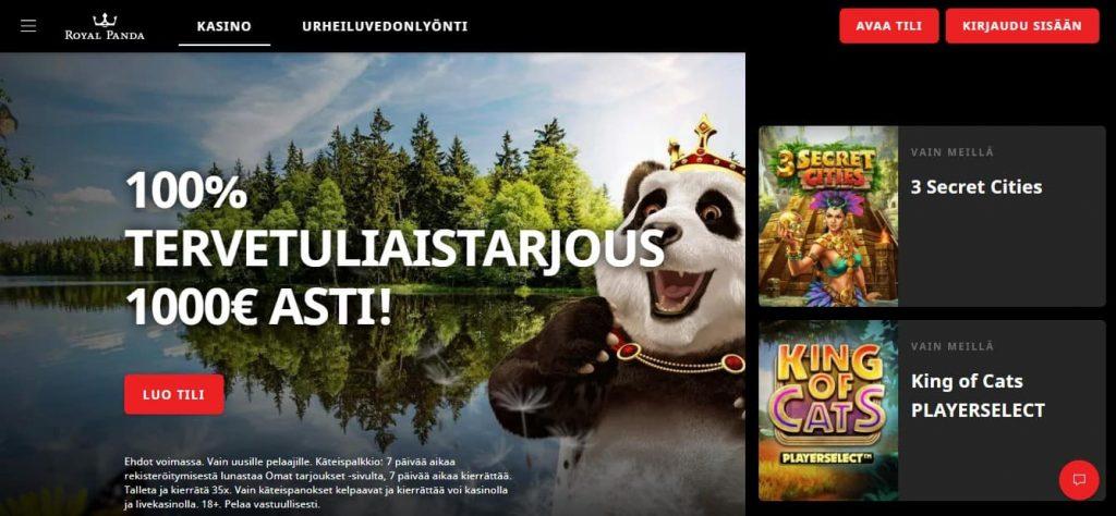 Royal Panda kasino etusivu