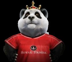 Royal Panda kasino panda pelipaidassa