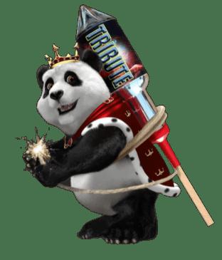 Royal Panda kasino panda raketti selässä