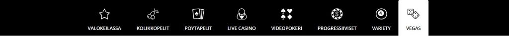Royal Vegas Casino kasinopelivalikoima