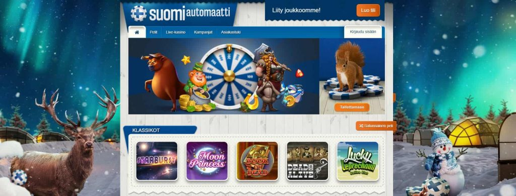 Suomiautomaatti kasino etusivu