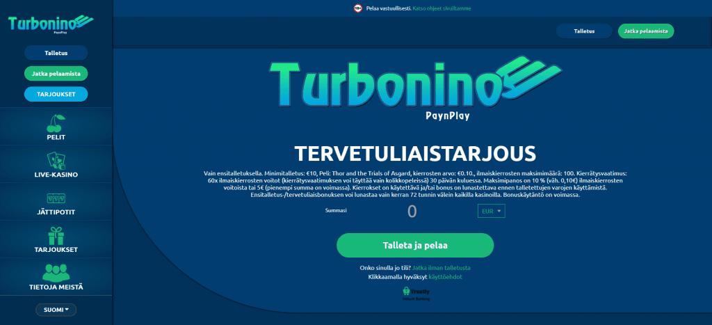 Turbonino tervetuliaiskuva
