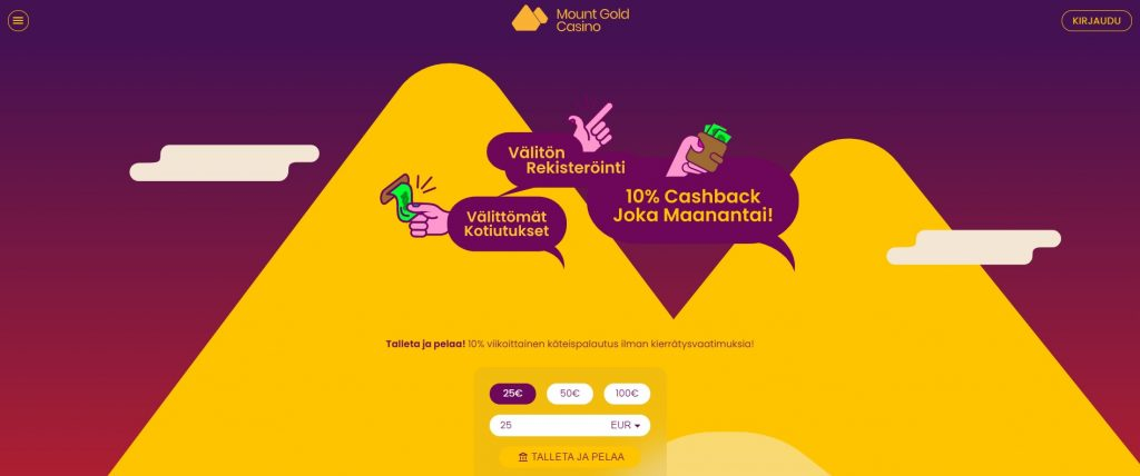 Mount Gold Casino teema