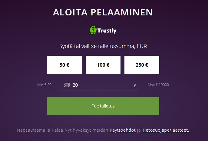 Malina Casino Trustly talletus