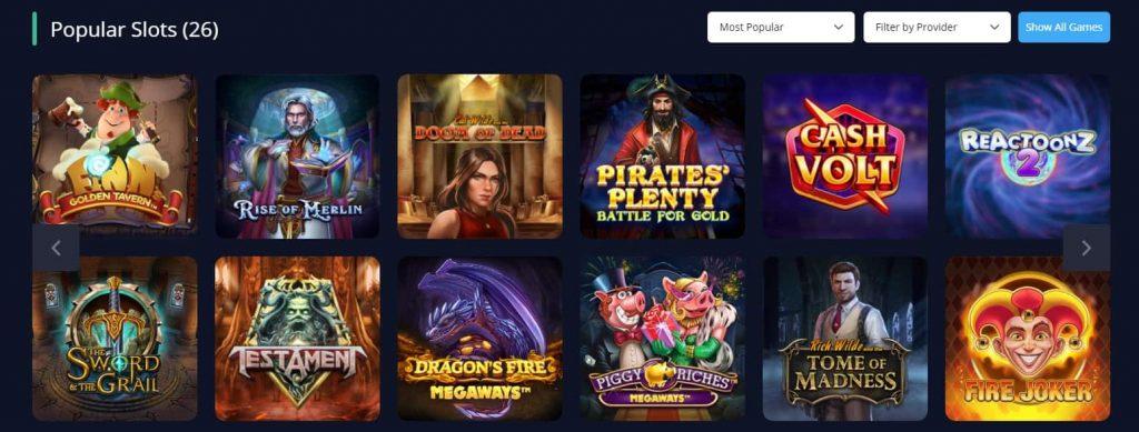Rush Casino suositut kolikkopelit-min