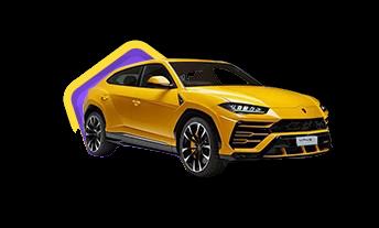 Betamo kasino keltainen urheiluauto