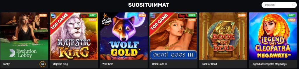 Betamo kasino suositut kolikkopelit
