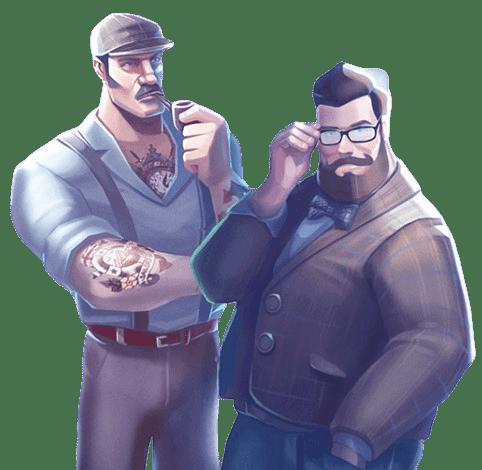 Casino Dome kaksi miestä