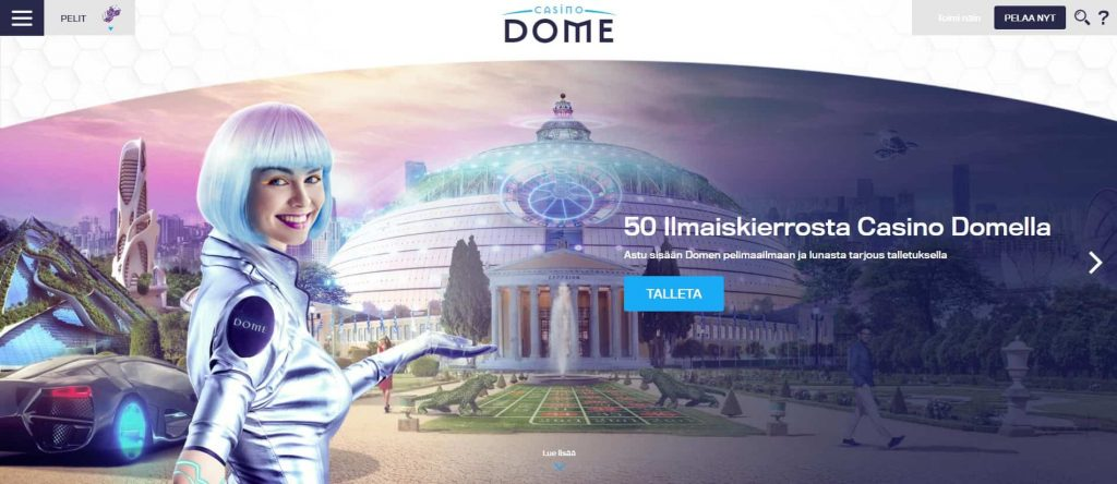 Casino Dome kotisivu