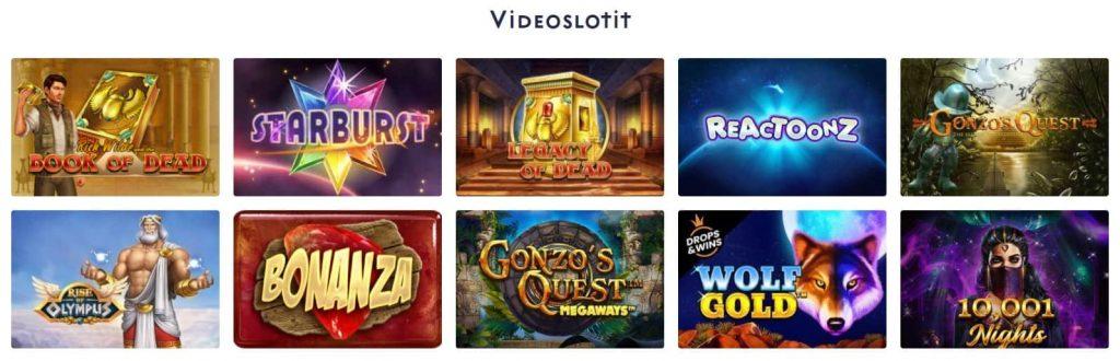 Casino Dome videoslotit