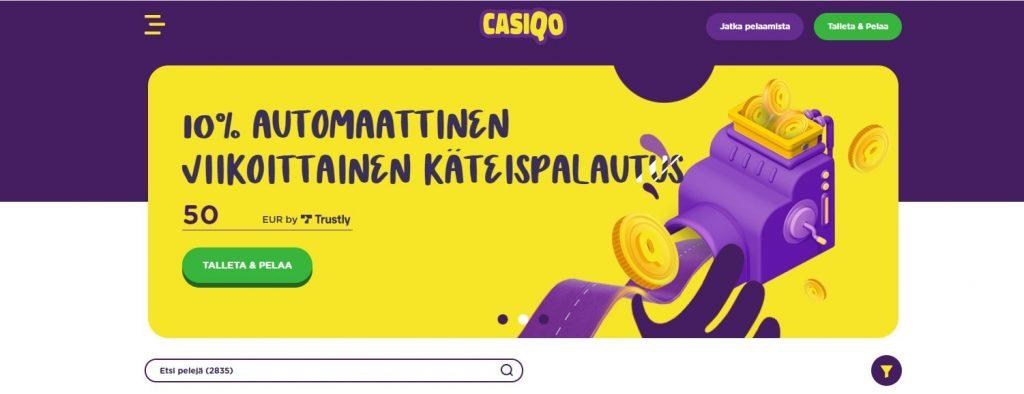 Casiqo Casino käteispalautus