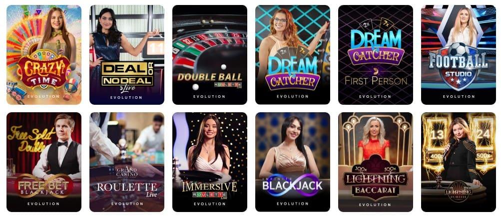 TrueFlip Casino live-pelit