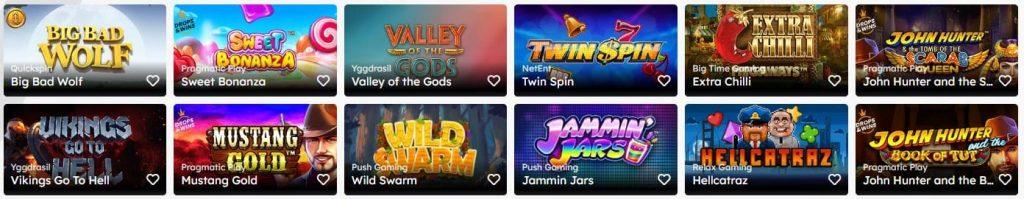 Uberlucky Casino kolikkopelivalikoima