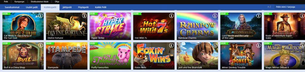 jackie jackpot kasino kolikkopelivalikoima