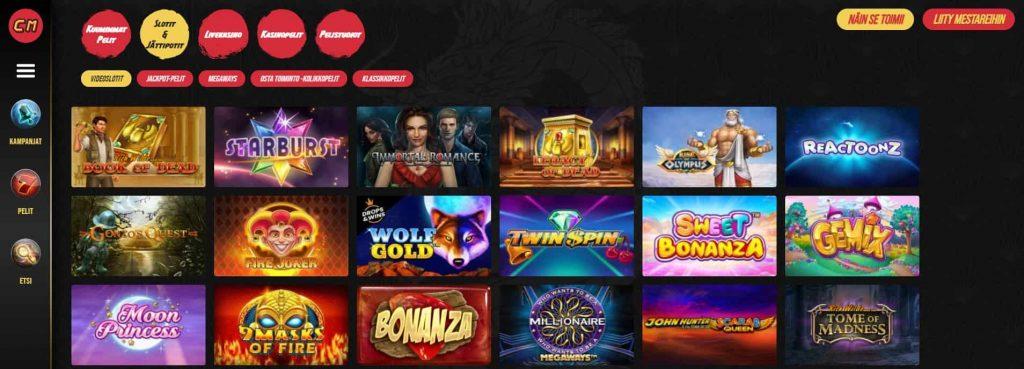 Casino Masters kolikkopelit