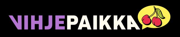 Vihjepaikka logo with cherry
