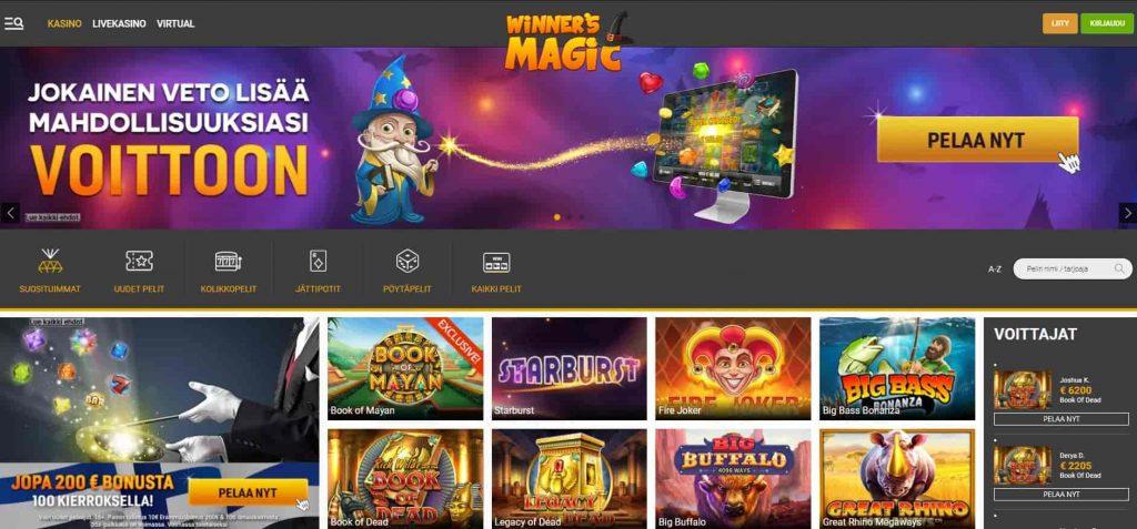 Winners Magic kasino etusivu