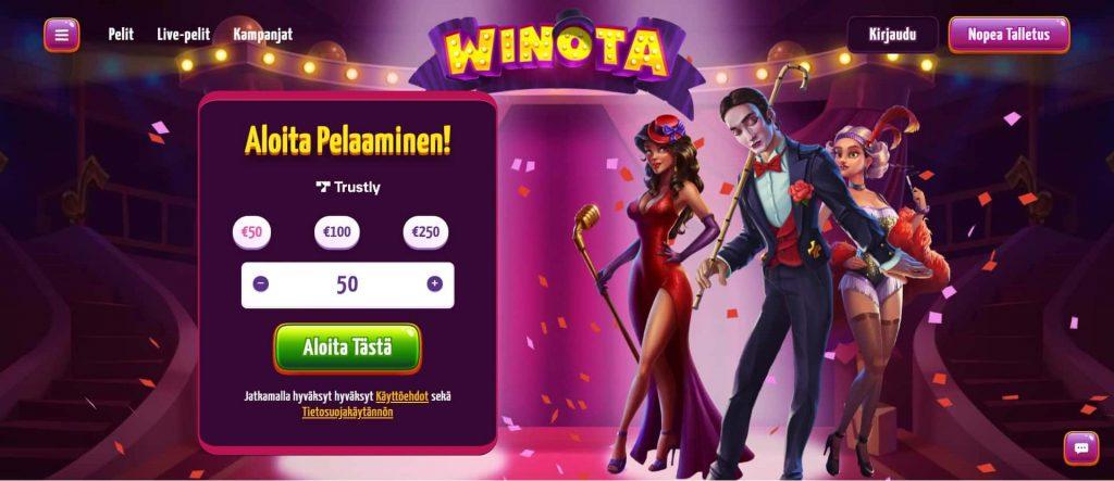 Winota Casino etusivu