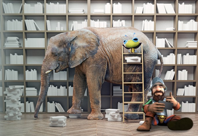 Skol Casino norsu kirjastossa