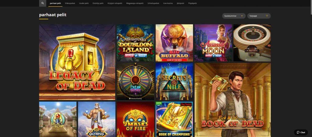 18Bet Casino kolikkopelit