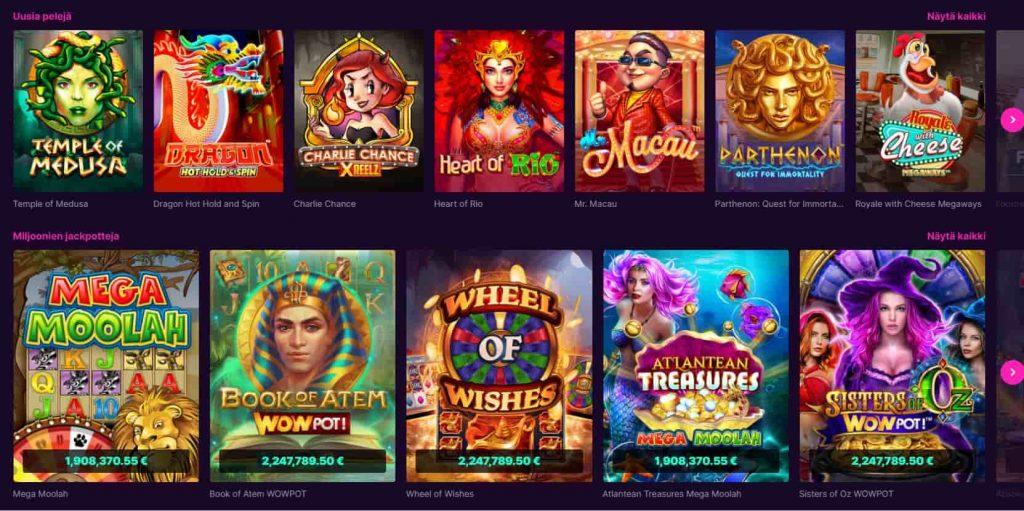 Kanuuna Casino kolikkopelit