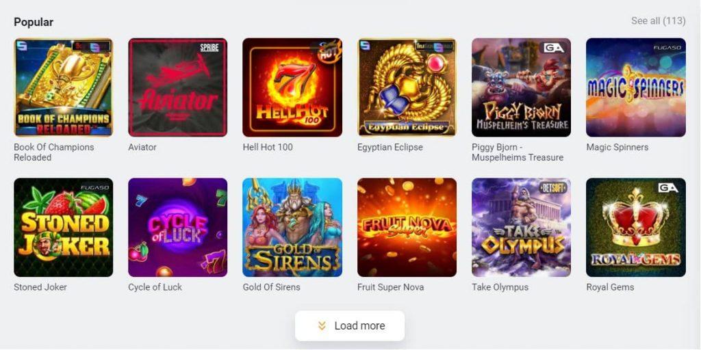 GGBet Casino kolikkopelit