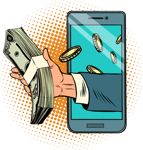 Mobiilimaksut Vihjepaikka kuvituskuva
