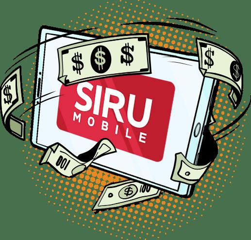 Siru Mobile Vihjepaikka kuvituskuva