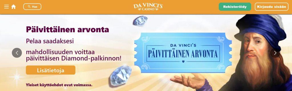 Da Vinci's Casino etusivu