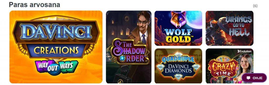 Da Vinci's Casino paras arvosana pelit
