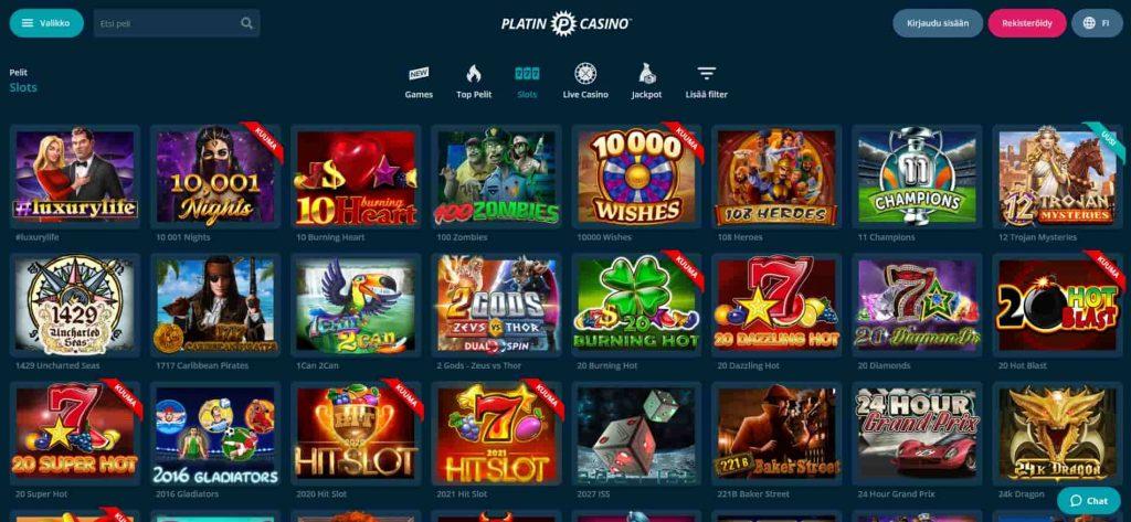 Platin Casino kolikkopelit