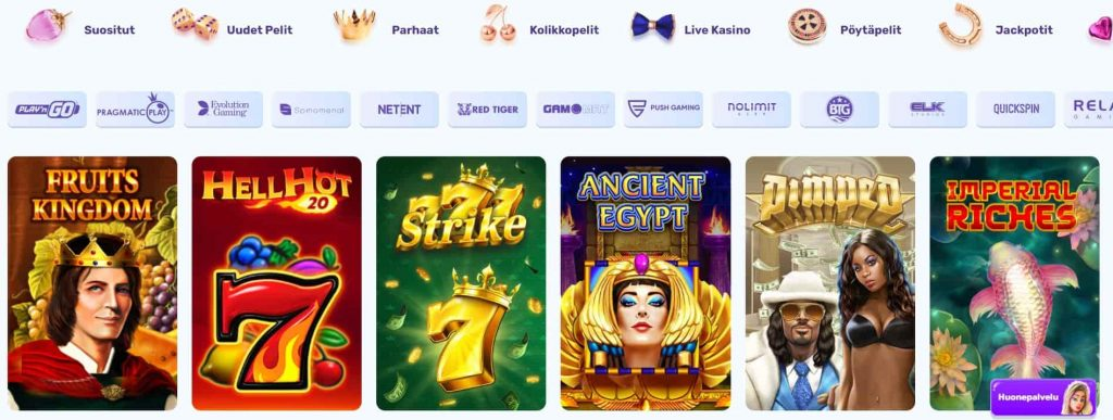 Slots Palace Casino pelivalikoima